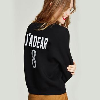 Женская толстовка с круглым вырезом HAVVA, весенний Свободный пуловер с буквенным принтом, V3078