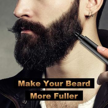 Zestaw długopisów do napełniania brody ołówek do fryzjera z pędzelkiem Salon do twarzy grawerowanie włosów stylizacja narzędzia do brwi męskie wąsy naprawa kształtu tanie i dobre opinie VERONNI CN (pochodzenie) Hair Loss Product Beard Growth Essence Zestaw narzędzi do makijażu Beard Pen