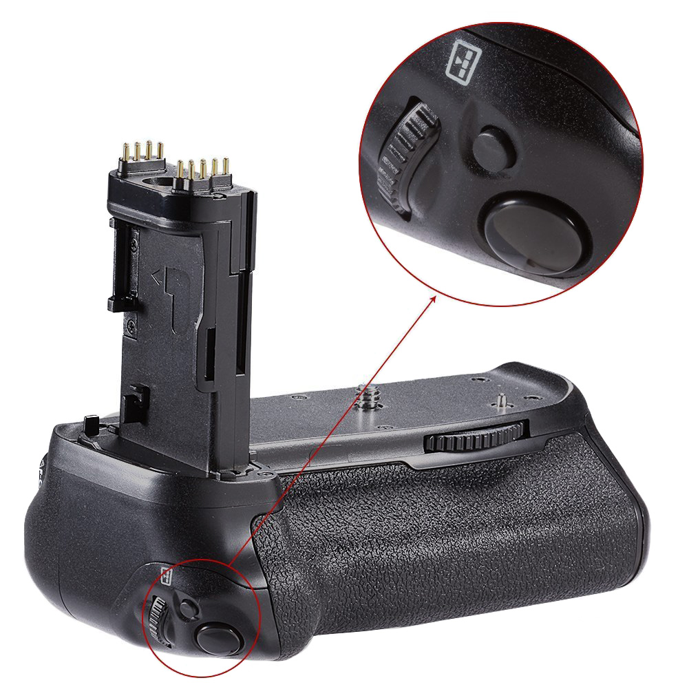 Accessories Photography Professional Replacement <font><b>Battery</b></font> <font><b>Grip</b></font> Portable Anti Impact Balance Practical Camera For Canon 70D <font><b>80D</b></font> image