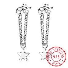 Новые серьги гвоздики из стерлингового серебра 925 пробы Женские