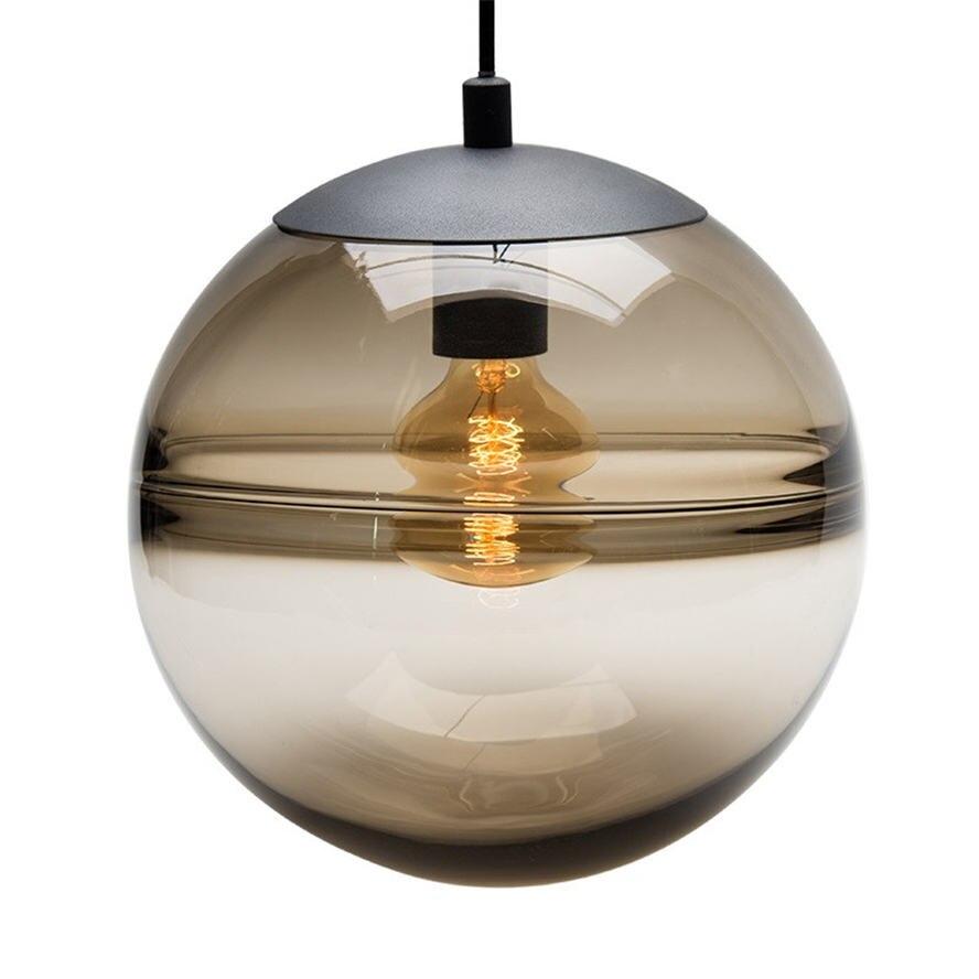 Image 3 - postmodern Italian design blue glass globe pendant lights for villa bedroom coffee store lamp fashion suspended led luminaire-in Pendant Lights from Lights & Lighting