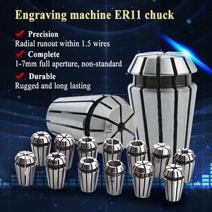 Image 5 - 0.5kw 공냉식 스핀들 ER11 척 CNC 스핀들 모터 500W + 52mm 클램프 + 전원 공급 장치 속도 조정기 조각 용