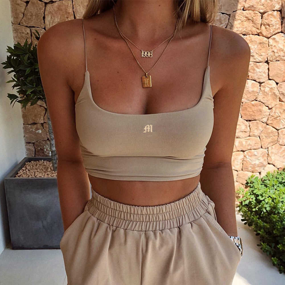 Womens Summer Camis Tanks Tops Sleeveless Cotton Bustier Unpadded Bandeau Bra Vest Crop Top Seamless Tees