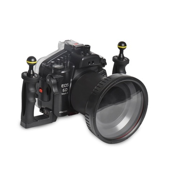 Mcoplus 40m 130ft Camera Waterproof Underwater Diving Housing Case Bag for Canon EOS 6DII 6DMark II with 27-105mm Lens