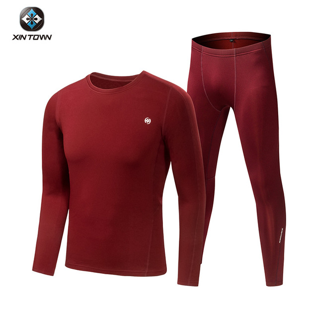 Lovers Long Johns Winter Velvet Warm Thermal Underwear Set Women, Man, Top+Pants