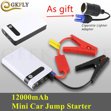 New Upgrade Car Jump Starter 12000mAh Portable Power Bank 12V Emergency Starting Device Booster Car Charger For Car Battery LED