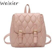 купить High Quality Small Backpacks For Girls Bag Pack For Women Backpack Bag Red Silver Pink Pu Leather Backpack Women Bagpack LW-15 по цене 943.1 рублей