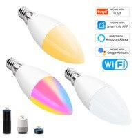 Tuya Smart Wifi lampadina a led E14 Smart Home candela lampadina a Led musica Sycn con Alexa Amazon Google Assitsant Smart Life