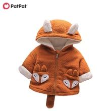 Fluff Kids Hooded-Coat Winter Baby/toddler New Boy Patpat Cartoon for Fox