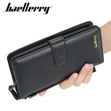 Baellerry роскошный брендовый мужской кошелек длинный клатч