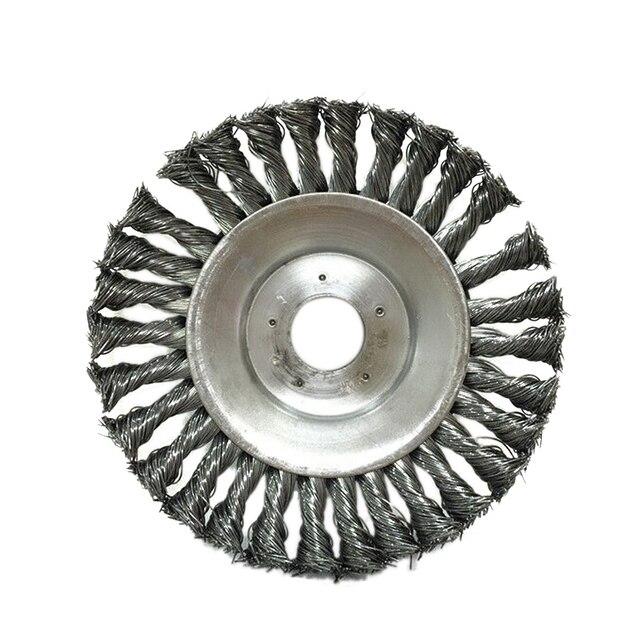 Lame coupe gazon pour débroussailleuse, 8 pouces, tondeuse à gazon, étanche à la casse, bord rond en acier, accessoire pour tondeuse à gazon