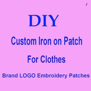 Нашивка для одежды с логотипом бренда Trend, с клейким слоем для глажки, армирование стежками, аппликация для утюга