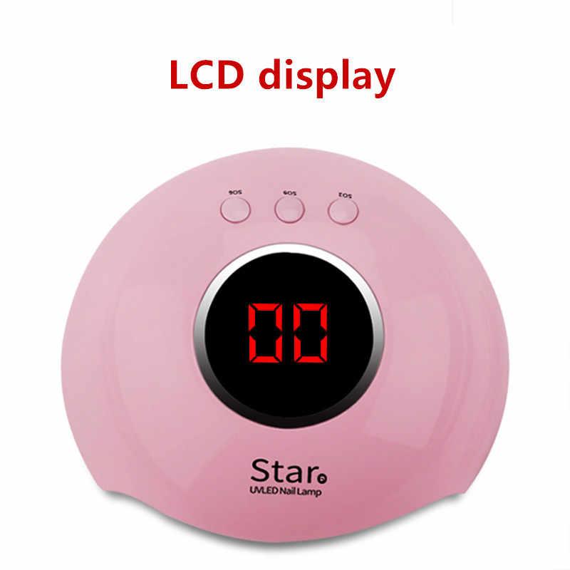 36W החדש Star6 נייל אור טיפול מכונה USB נייל מכונת led מייבש אינדוקציה מהיר ייבוש פוטותרפיה מנורת ג 'ל מסמר מנורה