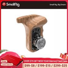 SmallRig empuñadura de mano de madera lateral izquierdo con montaje de perno de roseta ANCI para cámara DSLR Universal mango de madera 1891