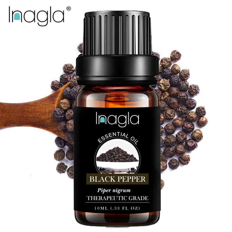 Inagla 10ML Black Pepper Essential Oils 100% Pure Natural Pure Essential Oils For Aromatherapy Diffusers Oil Home Air Care