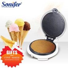 Elektryczna maszynka do sajgonek chrupiąca omlet formy krepa blacha do pieczenia naleśnik pieczenia DIY lody stożek maszyna Pie smażenie Grill Sonifer