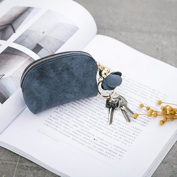 2021 Hot Sale Fashion Ladies PU Leather Mini Wallet Card Key Holder Zip Coin Purse Clutch Bag Coin Purses image