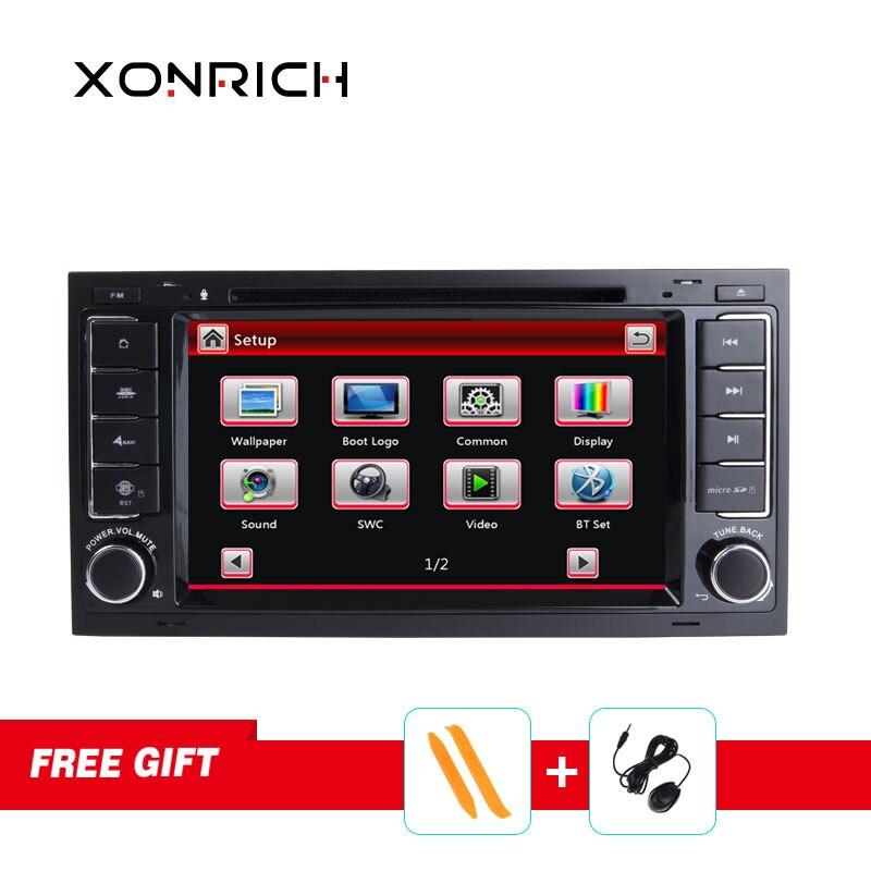 Автомагнитола Xonrich 2 Din 7 дюймов Автомобильный dvd плеер для Touareg/Volkswagen со стереоплеер gps навигация Bluetooth 1080P бесплатные карты