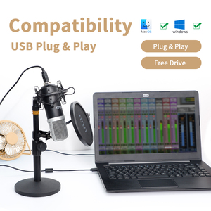 Image 4 - UHURU UM910 USB Microphone 192 kHz/24Bit Condenser Podcast Mikfofon Plug&Play Computer Mic for Gaming Youtube Vocal Recording