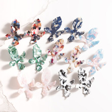 Colourful Flower Geometry Earrings for Women Acrylic Korean Fashion Jewelry Female Personality Party wholesale