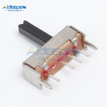 10Pcs/lot SS13D07 Slide Switch 1P3T 4Pin W/ Handle 6mm 3 Position f DIY Electronic(China)