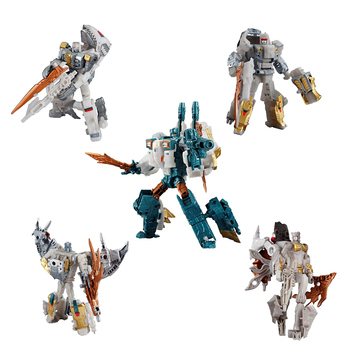 Hasbro Transformers 5in1 Decepticon Besieged Generation Selects Set Godneptune Piranacon Masterforce King Poseidon BW2 1