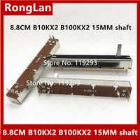 SL-608G SL608G B10K B10KX2 B100KX2 diapositiva fader doble potenciómetro 88MM 8,8 CM ajuste Taipower posicionador manejar 15MMC--10P