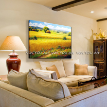 Hand-Painted Landscape Oil Painting home Decorative oil Wall Flower landscape painting hotel office wall decor