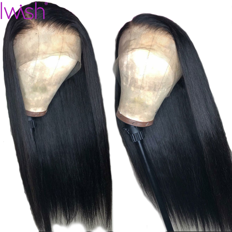 Lace Front Human Hair Wigs Straight Brazilian Remy Hair 13X4 150% Natural Color Wig Pre  Plucked With Baby Hair For Black Women
