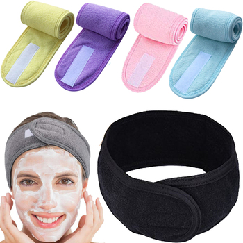 Spa Headband Sweat Hairband Head Wrap Towel Hair Wraps Non-slip Stretchable Washable for Sports / Women Makeup Face Wash 1
