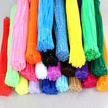 olorful hair roots puzzle toy chenille stems for kindergarten children/kids DIY handmade material pipe cleaner 100pcs/lot