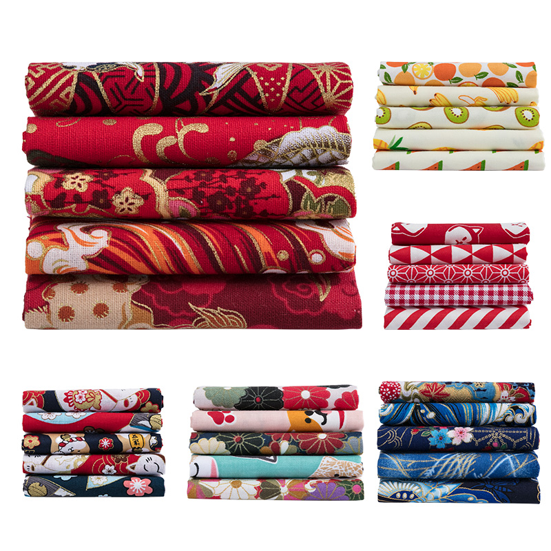 Japanese Cotton Printed Patchwork Fabric Quilting Material For Sewing Dolls And Bags Needlework Accessories 20X25cm/Pcs TJ0361