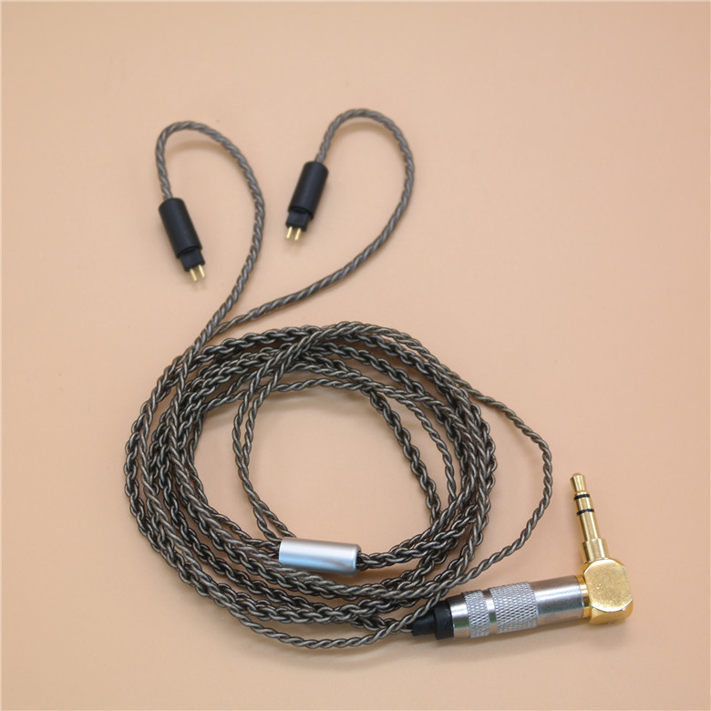 for um3x w4r um18 ue11 ue18 en700 en700pro en5 <font><b>2PIN</b></font> <font><b>0.78</b></font> MMCX copper silver-plated headphones line HIFI earphone <font><b>cable</b></font> JH1964 UE image