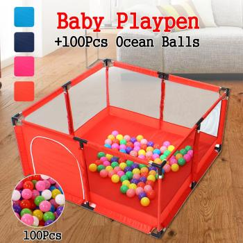 Folding Baby Playpen Fence Newborn Crawling Safety Barrier House Tent Playpen Game For Baby Pool Children Playpen Kids Barrier baby big size cartoon playpen fence kid crawling toy house safety portable ocean ball pit pool play tent children fencing teepee