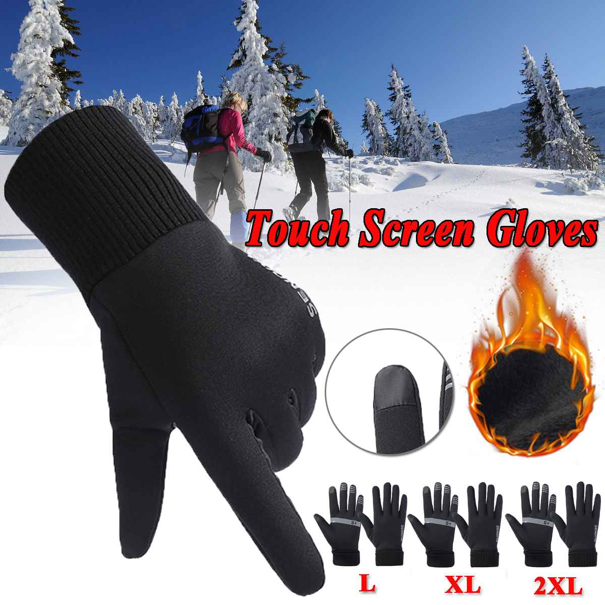 Thermal Ski Gloves Winter Fleece Waterproof Snowboard Gloves Snow Motorcycle Skiing Gloves Sportswear For Men Women Gloves