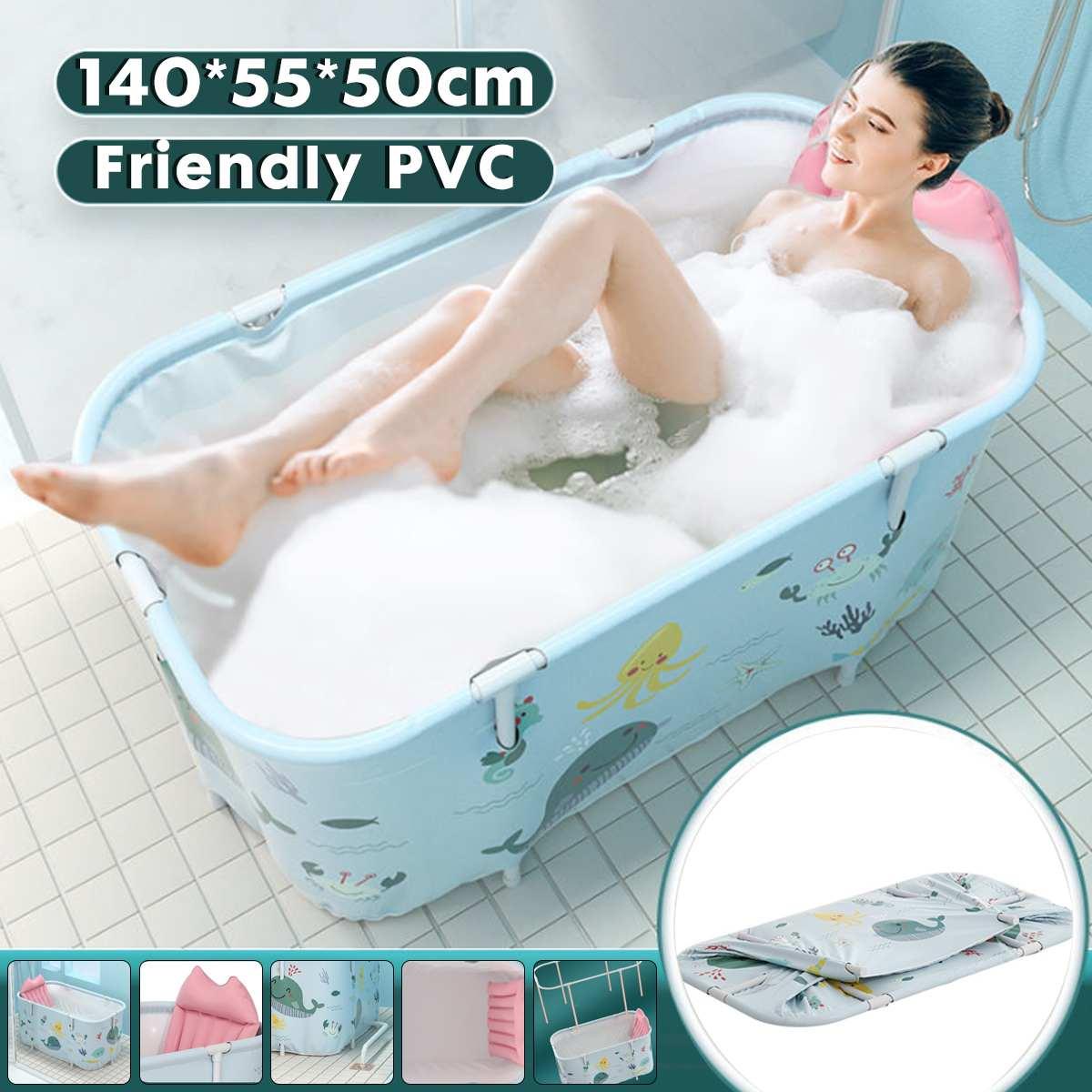 1.2/1.4M Foldable Bathtub Adult Bath Tub Barrel Sweat Steaming Thicken Portable Bathtub Home Sauna Insulation Folding Bath Bucke