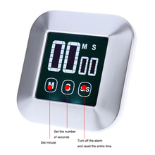 1pcs Kitchen Timer Touchscreen LCD Digital Cooking Count Up Countdown Alarm Clock Accessories
