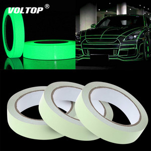 Image 1 - Reflective Tape Car Stickers Funny Decal DIY Light Luminous Warning Glow Dark Night Tapes Sticker Safety Car covers Accessories