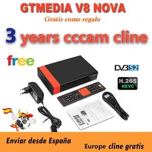 Full HD Gtmedia v8 nova DVB-S2 FTA Satellite Receiver Freesat v8 with Europe Cline for 3 year Support H.265 Built-in WiFi(China)