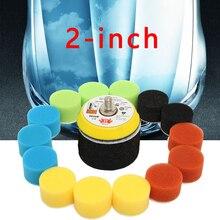 16pcs 2 Inch 50mm Buffing Sponge Polishing Pad Dual Action Hand Tool Kit Car Polisher Compound Polishing Thread Abrasive Tools