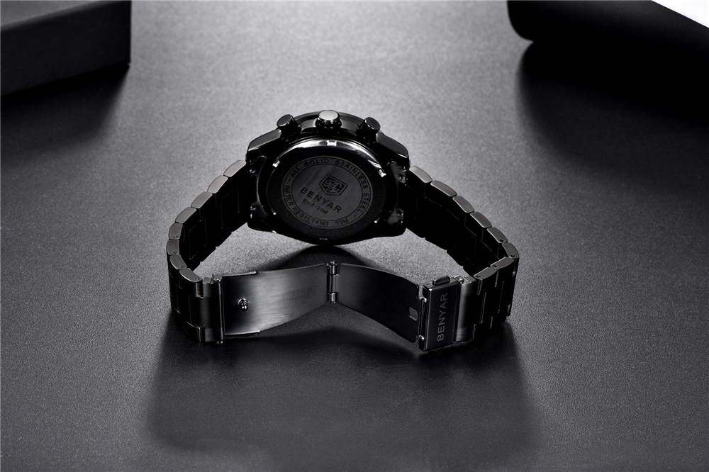 preto relógio de pulso masculino topo da