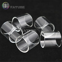 Ijust s 5pcs FATUBE Straight glass tube for Eleaf Invoke iKonn Oppo RTA Pesso tank Pyrex Glass tank Pyrex Glass tank(China)