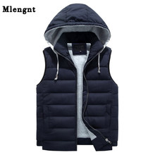 Men 4XL-8XL Parka Hooded Vest Winter Autumn New Thick Warm Casual Windbreaker Baggy Padded Outerwear Waistcoat Sleeveless Jacket(China)