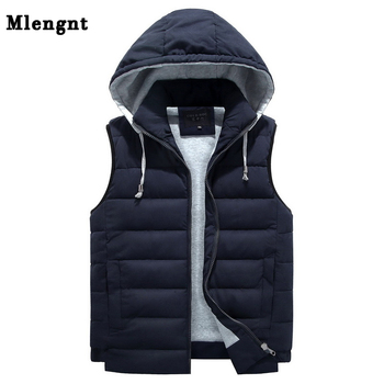 Warm Jackets Mens | Men 4XL-8XL Parka Hooded Vest Winter Autumn New Thick Warm Casual Windbreaker Baggy Padded Outerwear Waistcoat Sleeveless Jacket