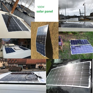 Image 5 - RG 2PCS 4PCS 6PCS 100w Flexible Solar Panels 100W 12V Monokristalline biegsamen solar ladegerät für home