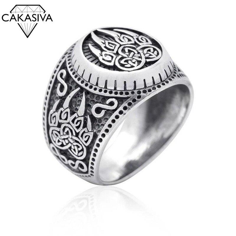 Creative Viking Bear Paw Ring Nordic Myth Bear Claw Retro 925 Silver Ring(China)
