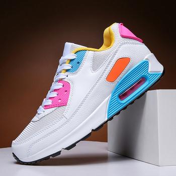 Buty damskie buty z poduszką powietrzną buty sportowe buty do biegania buty treningowe buty typu tide buty z siateczki tanie i dobre opinie NoEnName_Null Siateczka (przepuszczająca powietrze) CN (pochodzenie) Mieszkanie (≤1cm) inny Mieszane kolory Stałe Dla osób dorosłych