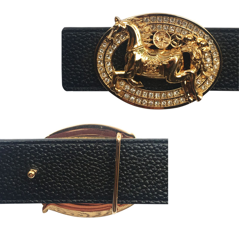 Belt Buckle With 12 Zodiac Horse Icons For Men's Belt Metal Accessories