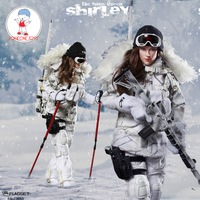 FLAGSET FS 73013 1/6 The Snow Queen Shirley Women Sniper Action Figure Female Soldier Military Figure Model Dolls Collection
