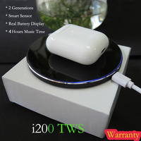 Original i200 tws bluetooth earphone Pop up Smart Sensor Earbuds Wireless Earphones Charging box PK w1 chip i60 i10 i30 i100 tws